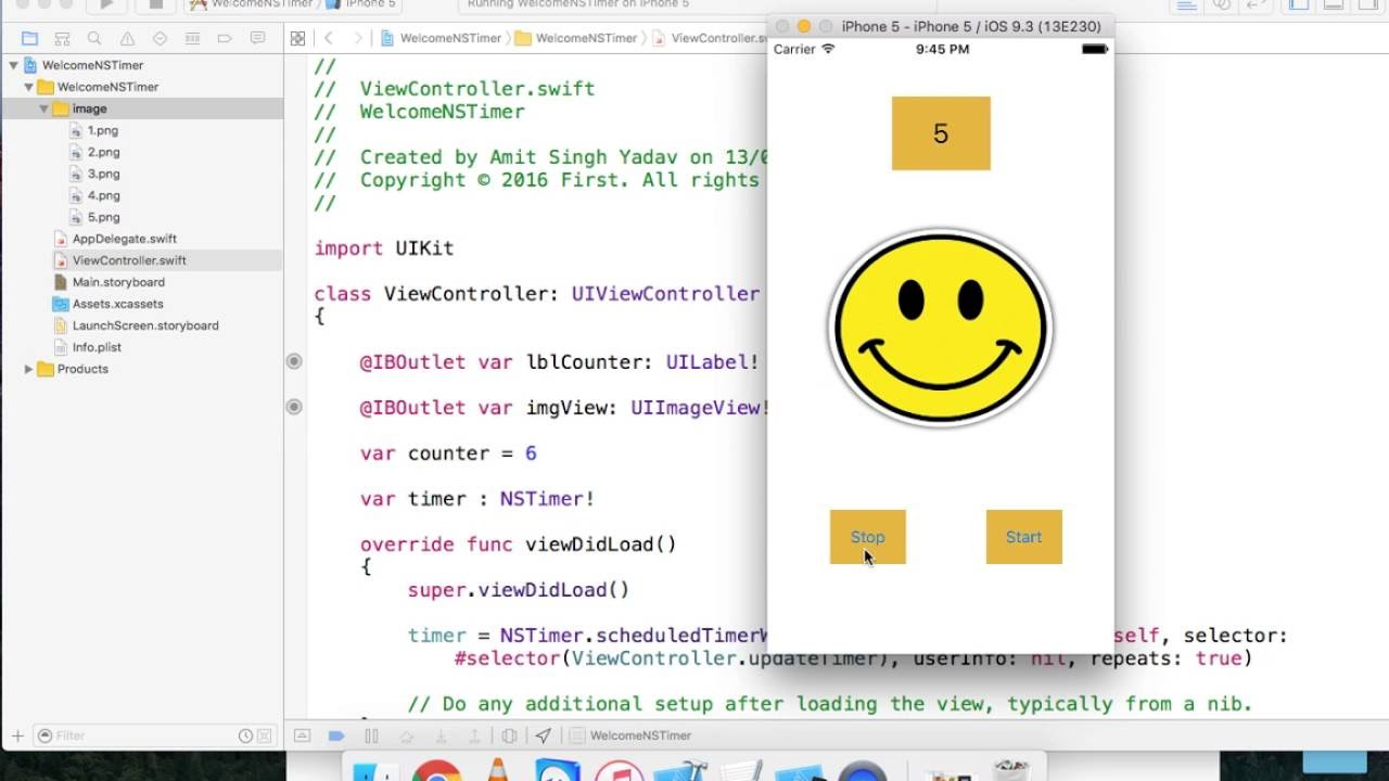 Swift : NSTImer to create countdown timer and Stopwatch with xcode 7