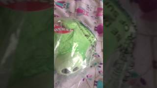 Green pig plush unboxing angry birds
