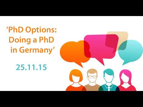 #jobsQ Live Video Hangout: 'PhD Options: Doing a PhD in Germany'