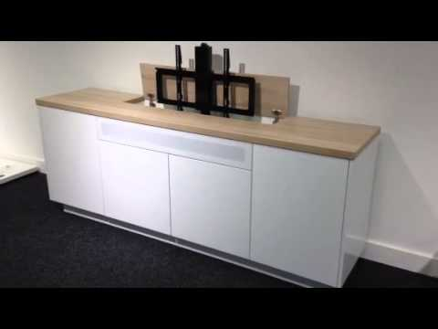 Tv Lift Meubel Ikea.Belissimo Tv Lift Kast Youtube
