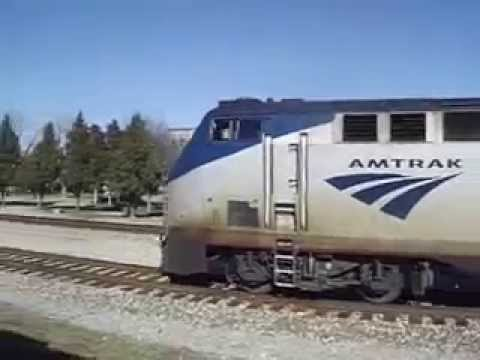 Amtrak Train at Carbondale, IL