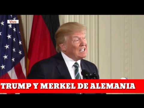 Trump y Ángela Merkel de Alemania 17-03-2017