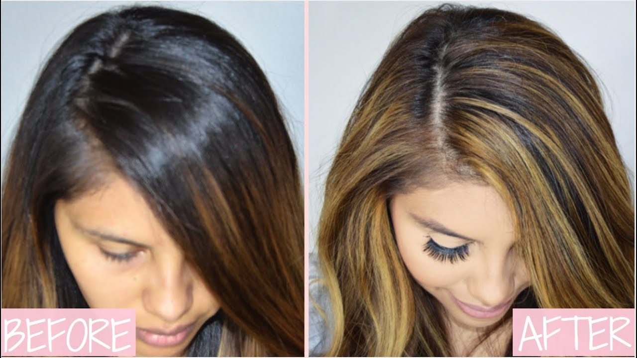 Roots Touch Up With Cap At Home Highlights