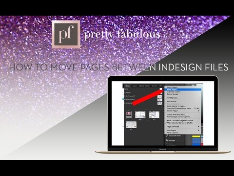 How To Move Pages Between Different InDesign Files
