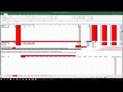 Easy Budget Financial Spreadsheet