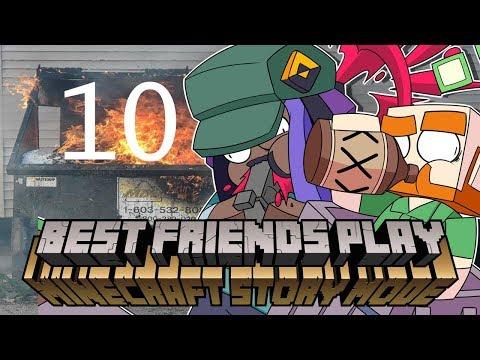 "Best Friends ""Play"" Minecraft Story Mode (Part 10)"
