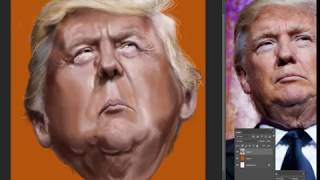 From youtube.com: Trump caricature {MID-295081}