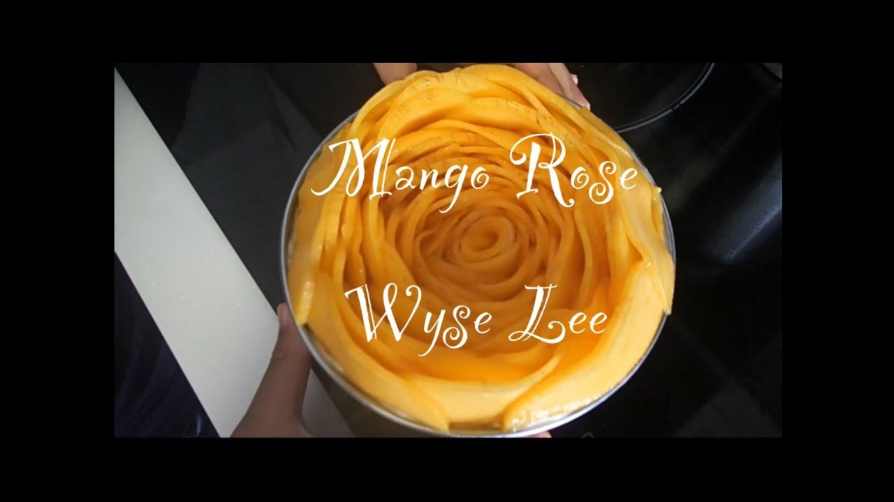 Ep10 Wyse's Baking  Mango Rose Decoration (a Simple Steps)