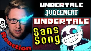 "Undertale Sans Song ""Judgement"" by TryHardNinja REACTION! 