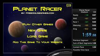 Speedrun: Planet Racer - Medium 1:59.58 WR