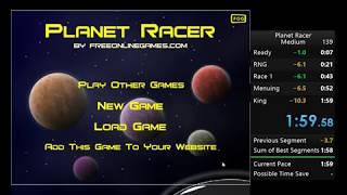Speedrun: Planet Racer - Medium 1:59.58 PB