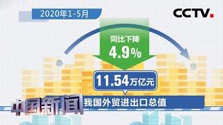 [中国新闻] 海关总署:1至5月中国外贸进出口总值11.54万亿元 | CCTV中文国际