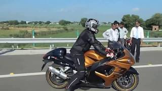 Sport bikes racing on  DELHI highway