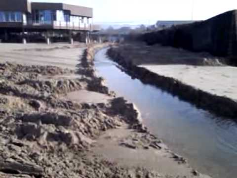 D River running to sea again thanks to Salmon River Contractors assistance.