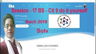 Era 2019 Session 17 BS Cit Do it Yourself 9