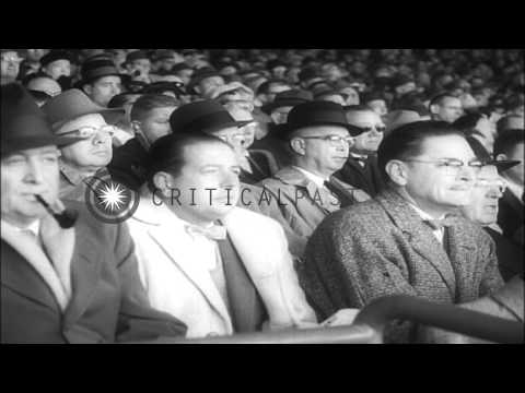 Baseball World Series Match Between Milwaukee Braves And New York Yankees In Milw...HD Stock Footage