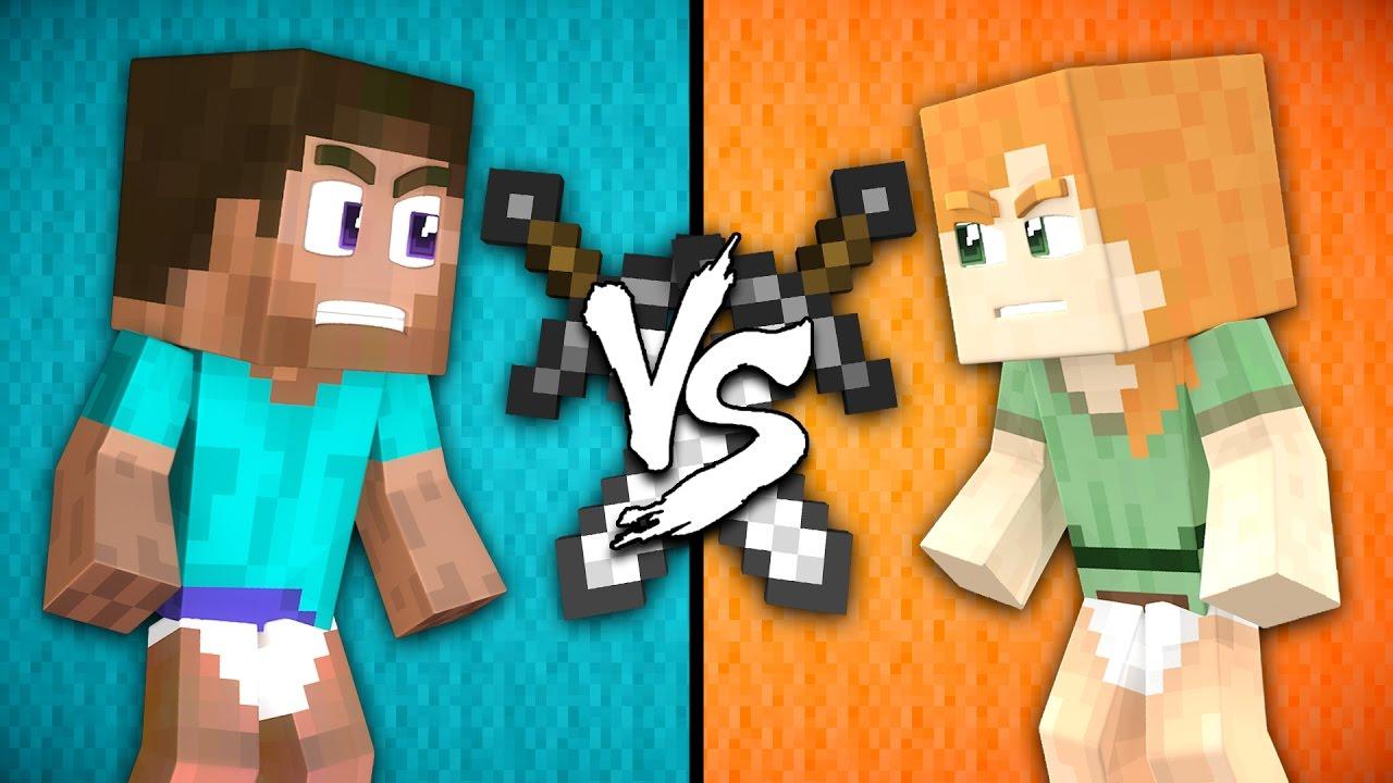 Baby Steve Vs Baby Alex Minecraft Youtube