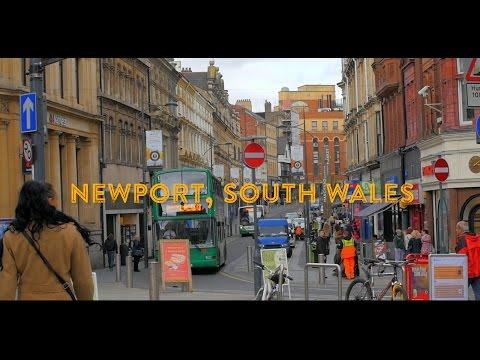 A Day in Newport City Centre Slo Mo