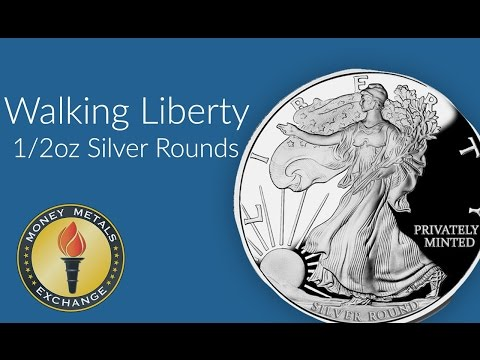 Half an Ounce United States Liberty Round | Money Metals Exchange