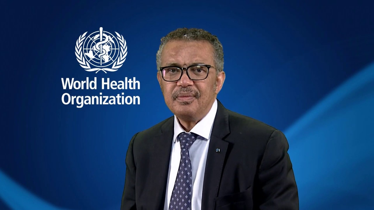 Message from WHO Director-General Dr Tedros Adhanom Ghebreyesus - YMCA International - World Alliance of YMCAs