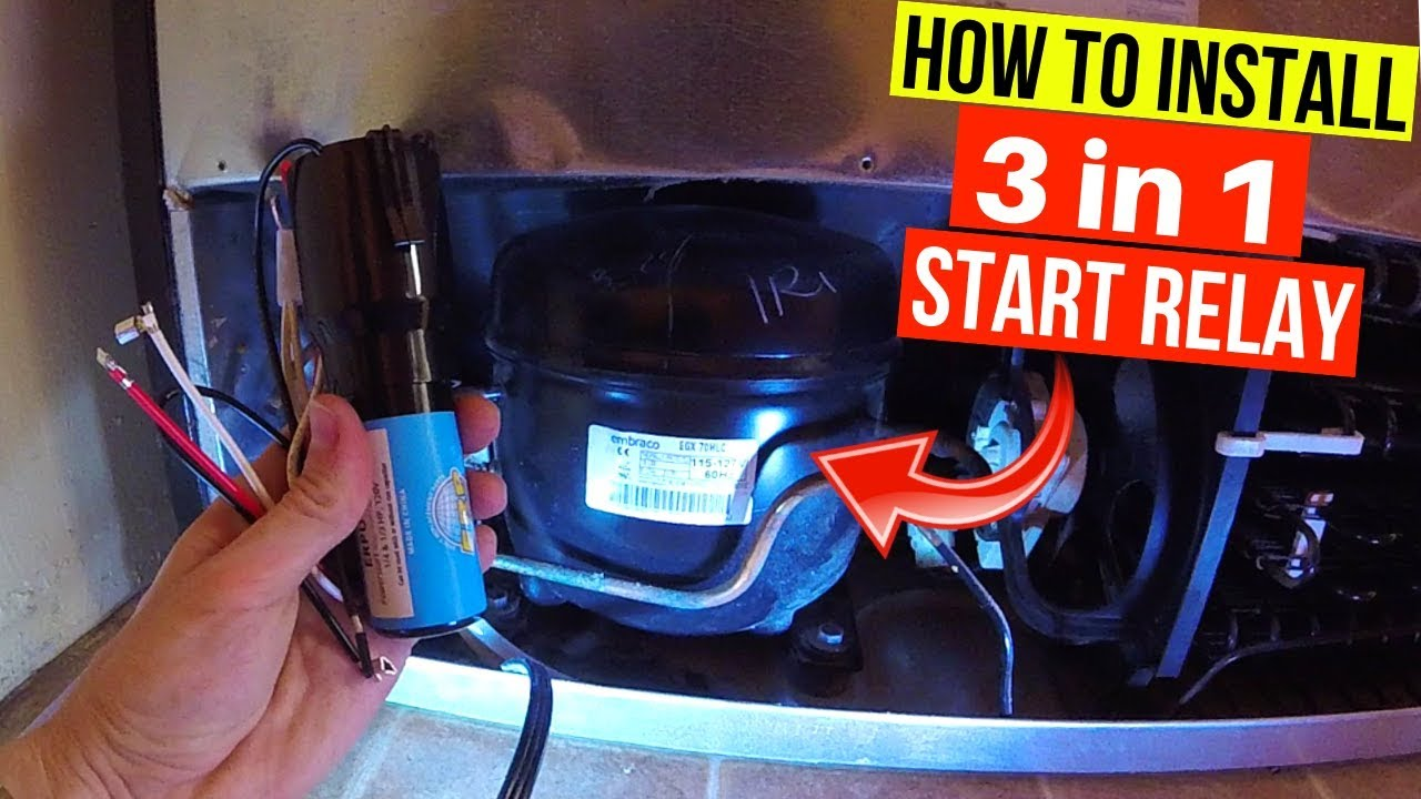 Fix Refrigerator. Installing Universal Relay (3 in 1 Starter) on Compressor  -Jonny DIY - YouTubeYouTube