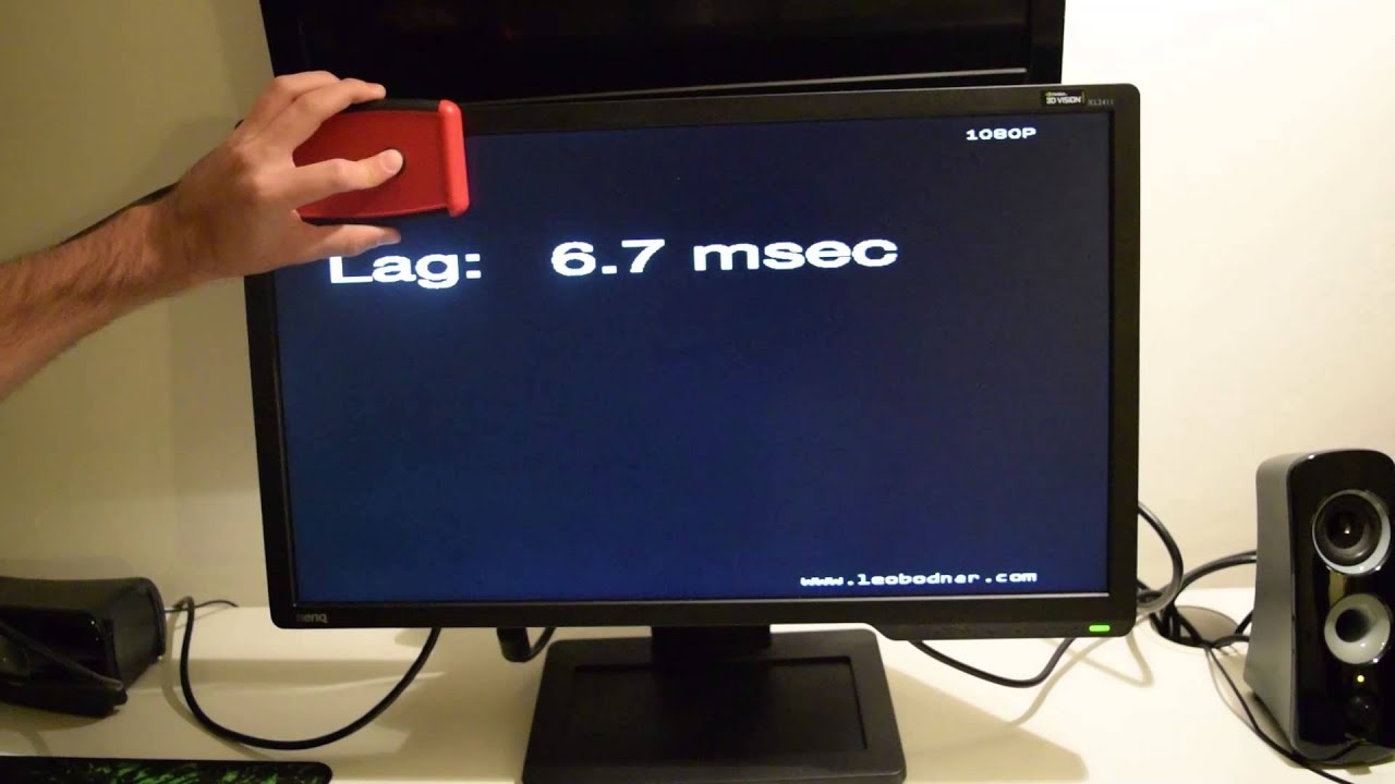 Input Lag Test on Benq XL2411Z - YouTube