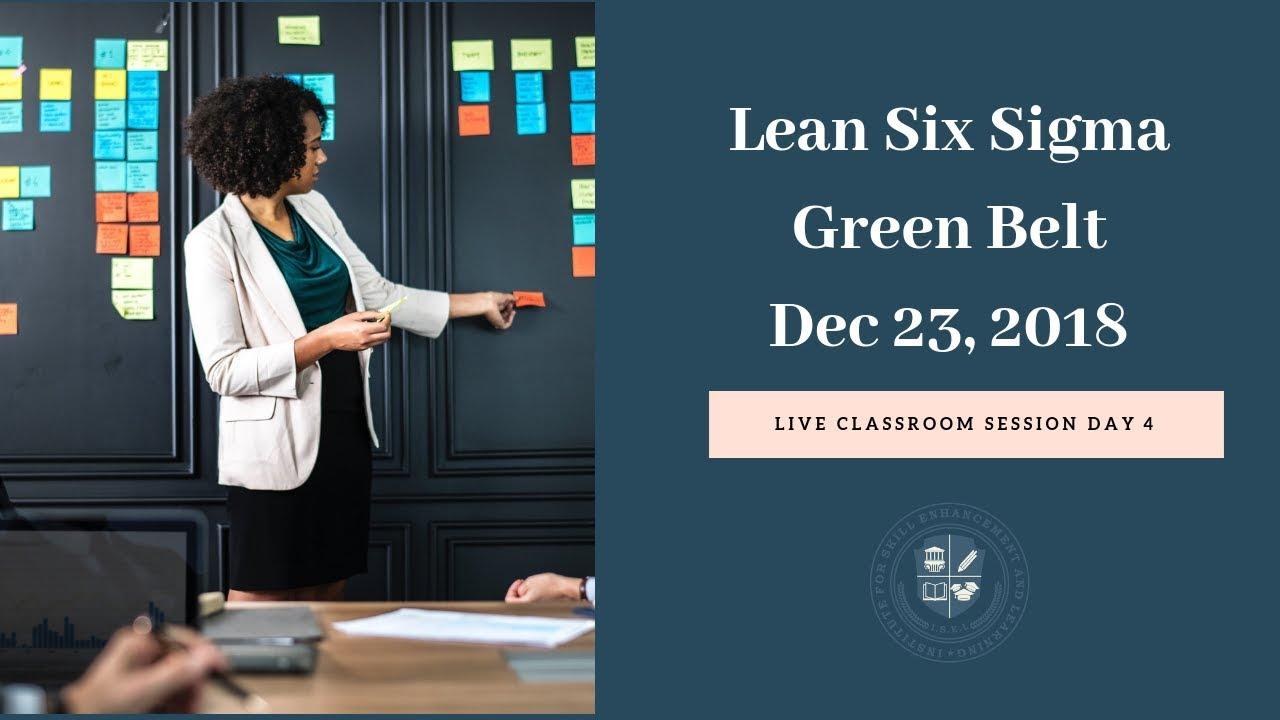Certified Lean Six Sigma Green Belt Certification