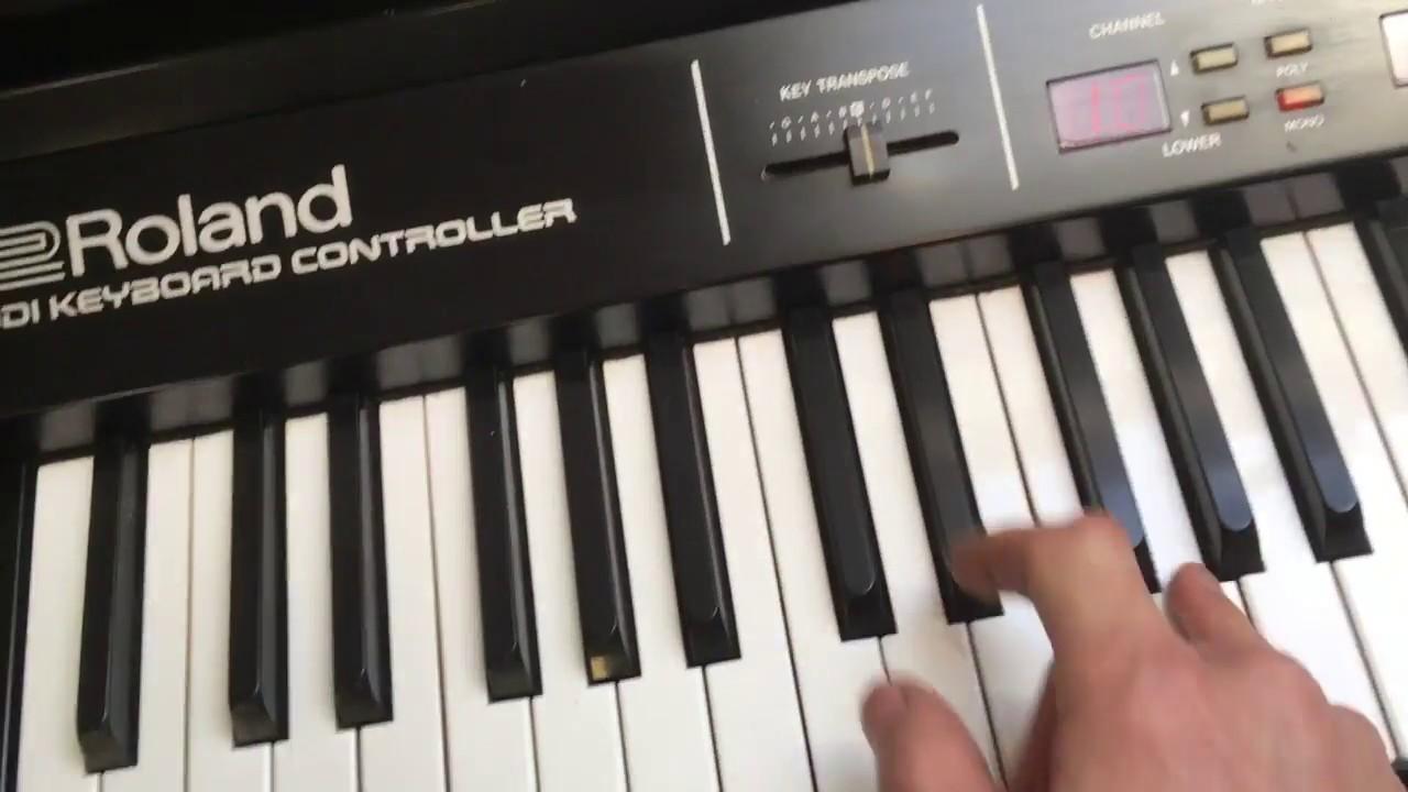 roland mkb 1000 midi controller keyboard walkthrough youtube