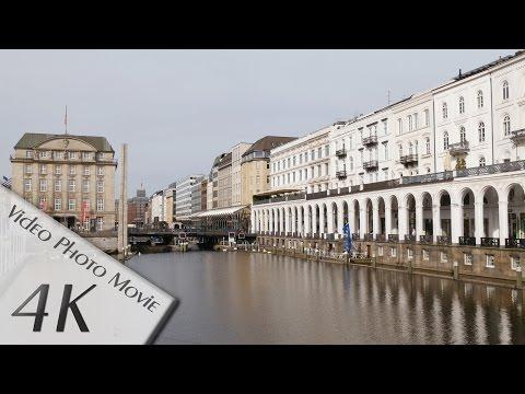 Hamburg, Germany: Binnenalster, Hafen (Harbor), Elbe, Planten un Blomen - XL Video - 4K Ultra HD