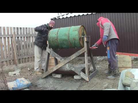 Делаем опалубку заливаем колонны 1 часть. Дом без фундамента