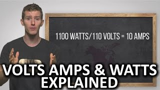 Volts Amps and Watts Explained