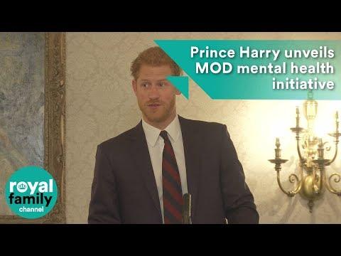 Prince Harry and Michael Fallon unveil MOD mental health initiative