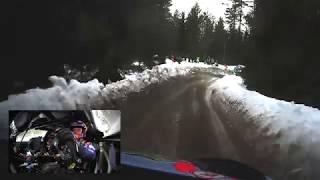 WRC - Rally Sweden 2019: ONBOARD Loeb SS06
