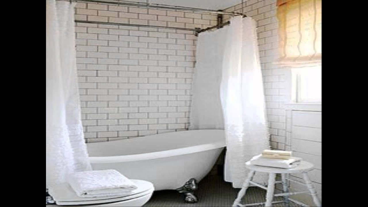 Shower Curtain Clawfoot Tub Solution - Clawfoot tub shower curtain size