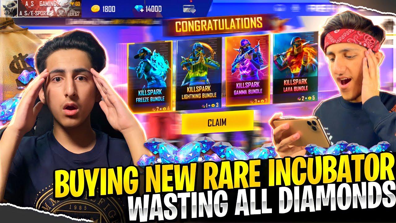 Got New Rare Incubator Wasting All Diamonds A_s Gaming- Garena Free Fire