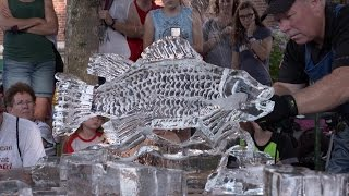 Ice Carving at the 2016 Iowa State Fair