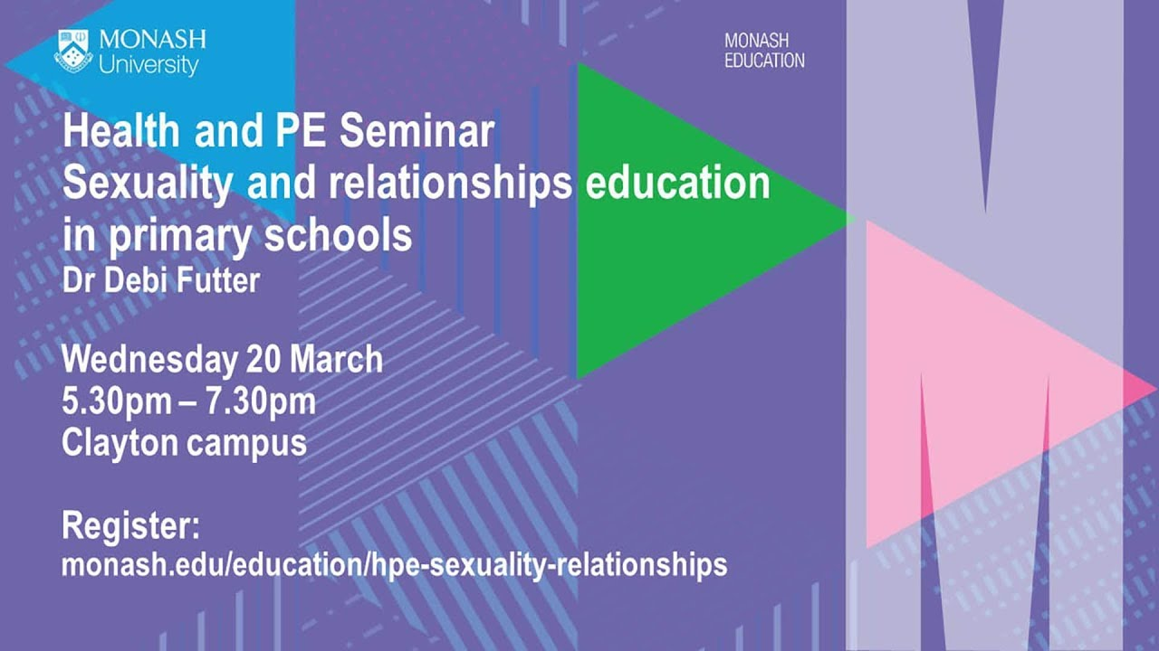 2019 Health and PE Seminar 1: Sexuality and Relationships Education in Primary Schools