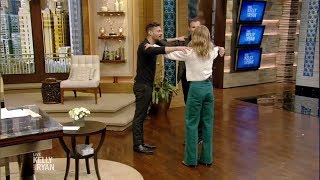 Kelly & Ryan Try the Triangle Dance with Gelman
