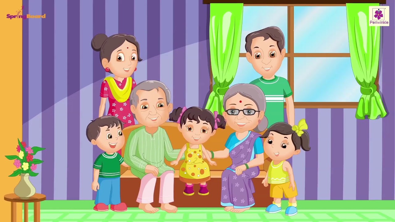 My Family   English Nursery Rhyme For Kids On Happy Family   Periwinkle