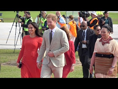 Duke and Duchess of Sussex arrival to the Kingdom of Tonga