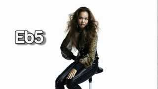 Crystal Kay Studio Vocal Range: 3 octaves and 4 notes Lower Registe...
