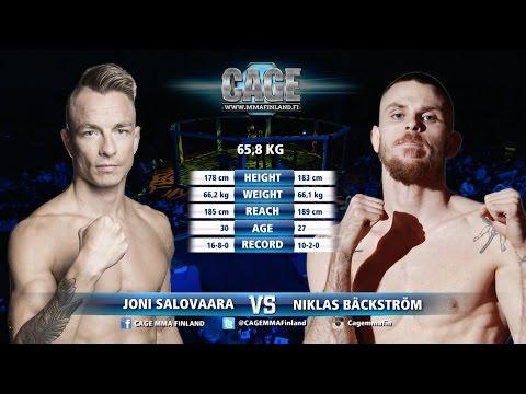 Cage 37: Joni  Salovaara vs Nicklas Bäckström Full Fight