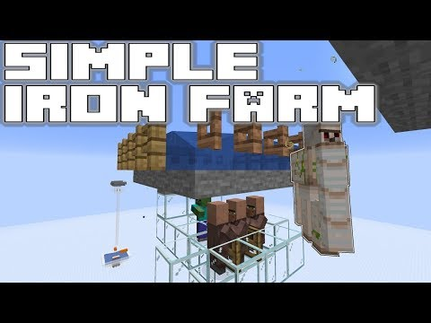 Simple Iron Farm Tutorial Minecraft 1143 Pre 1 Youtube