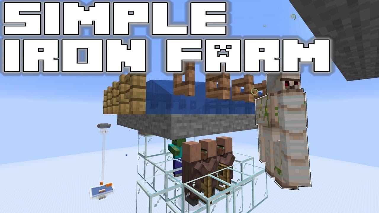 Simple Iron Farm Tutorial Minecraft 1 14 3 Pre 1 Youtube