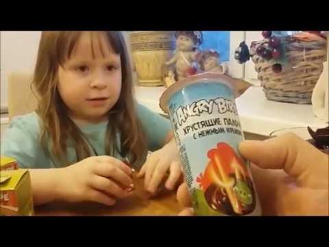 Видео, Ищем сюрпризы, открываем яйца Энгри Бердс и коробочки Ам Ням