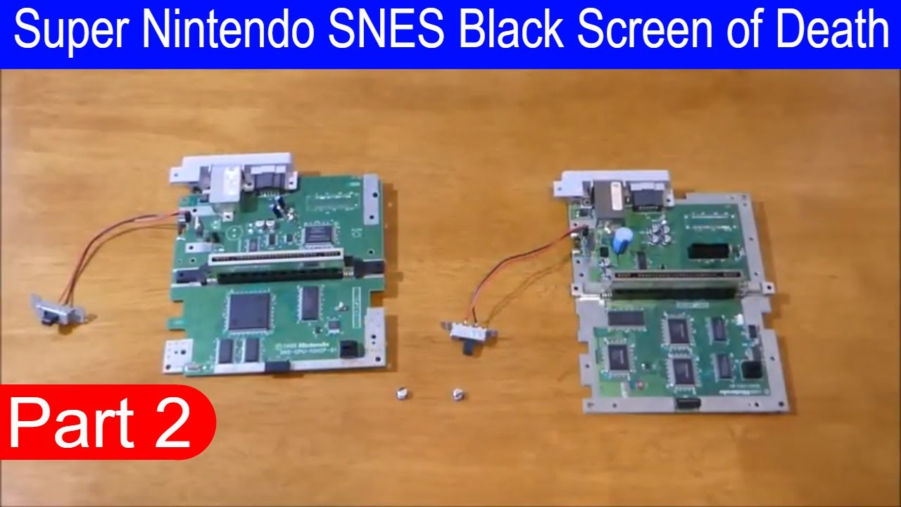 Super Nintendo SNES Black Screen of Death it's fixable? Well let see it  (Part 2) Final
