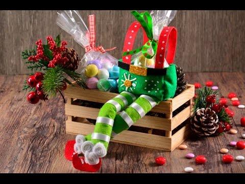 Manualidades Duendes De Navidad.Manualidad Como Hacer Un Dulcero De Duende Navideno