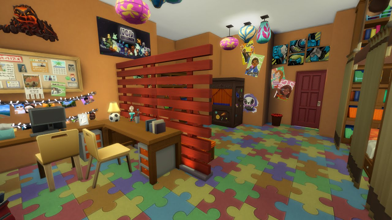 THE SIMS 4  KIDS ROOM STUFF PACK  Building CHILDREN ROOM   YouTube
