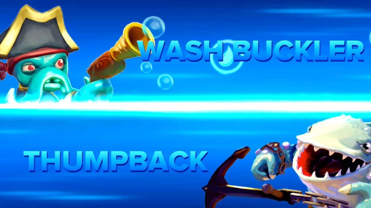Skylanders swap force pvp wash buckler vs thumpback youtube - Skylanders thumpback ...