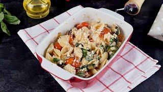 Паста с сыром и помидорами в духовке Рецепты от Со Вкусом